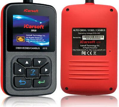 iCarsoft i810 OBD2 Diagnosegerät OBD Handscanner Motor Getriebe Live Daten uvm.