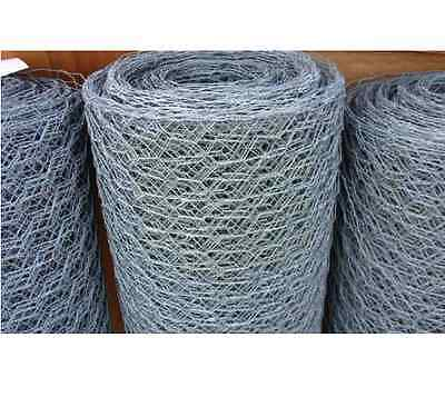 """Galvanized Poultry Net - Metal Mesh Fencing / Chicken Wire 2"""" Holes"""