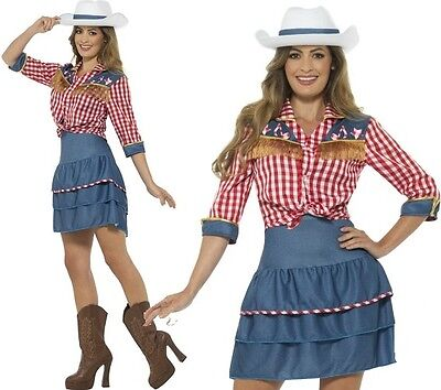 Ladies Rodeo Doll Cowgirl Fancy Dress Costume Cow Girl Outfit by Smiffys New - Rodeo Outfits For Women
