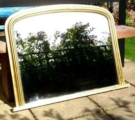 Beautiful gold over mantel/mantle mirror