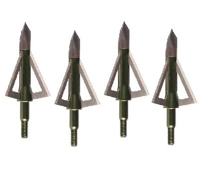 New 2019 Muzzy One Solid Stainless Steel 3 Blade 100 Grain 3 Pack Broadheads 283