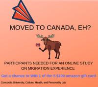 PARTICIPANTS NEEDED FOR ONLINE STUDY ON MIGRATION