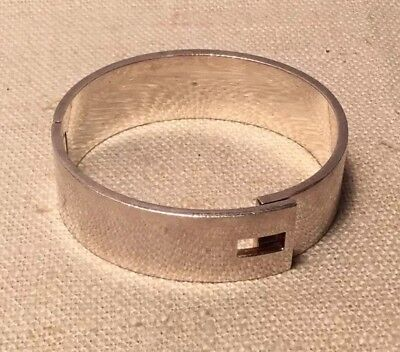 Gucci Italy Vintage Authentic Sterling Silver Heavy Bangle Bracelet