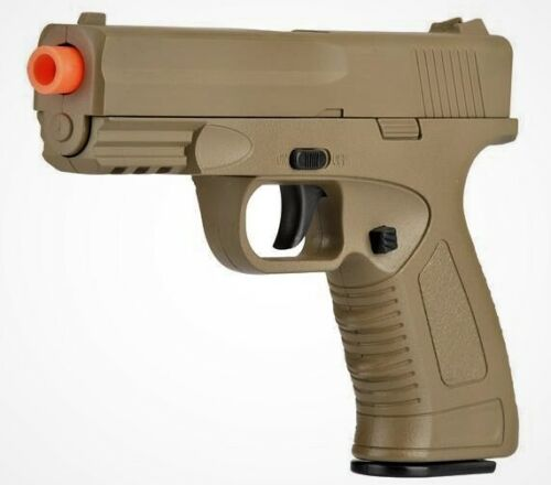 High Quality Full Metal Airsoft Spring Pistol Shoot Hard at 240 FPS Tan Color