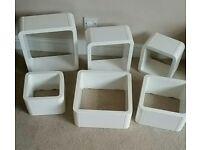 High Gloss White Cube Shelves