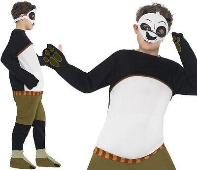 Kinder Kung Fu Panda Kostüm & Maske Kinder Outfit von - Kung Fu Kinder Kostüm