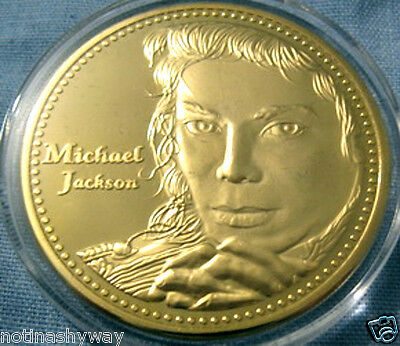 Michael Jackson Coin Gold The King of Pop Rock & Roll Music USA Thriller 5 Five