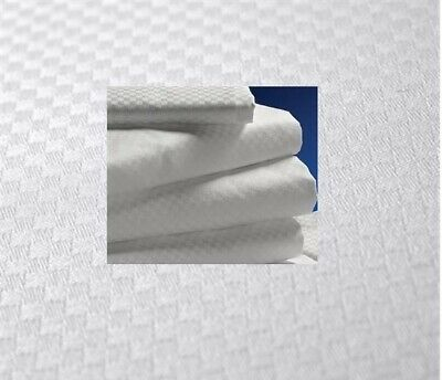 NEW Pack of 2 QUEEN XL FLAT Sheets Luxury Micro Check White 2 Pack Flat Sheets