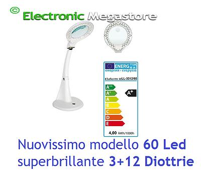 LL-3312/60 LAMPADA DA LABORATORIO A 60 LED CON LENTE D'INGRANDIMENTO