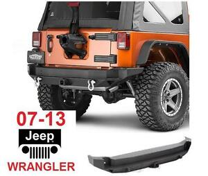 NEW 07-13 JEEP WRANGLER REAR BUMPER Smittybilt REAR BUMPER ONLY - TIRE CARRIER SOLD SEPARATELY - AUTO CAR PARTS