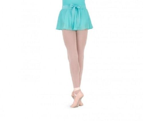 NWT Bloch Dance Dark Pistachio Bow Back Skirt Girls Medium Child  8/10 CR8011