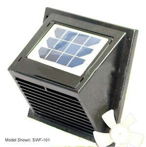 New Wall Solar Vent Fan For Bathroom Basement Greenhouse Shed Etc Ebay