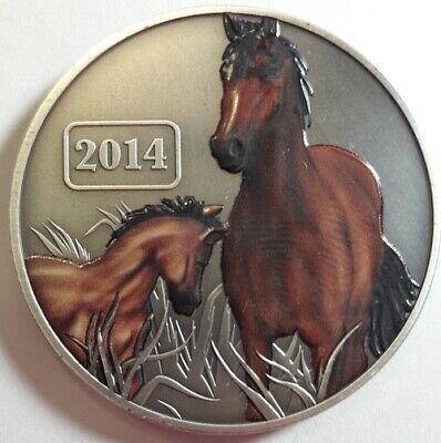 ANTIQUE FINISH 2014 TOKELAU $5 DOLLARS