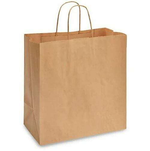 """Rope Handle Paper Shopping Bags  Eden 13x7x13"""" Natural Kraft (250/Case)"""