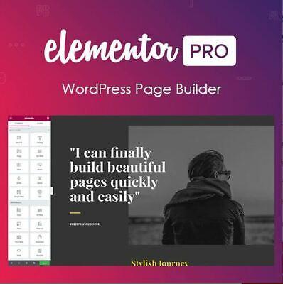 Elementor Pro Wordpress Page Builder Last Version 2.5.13 - No Key - June 2019