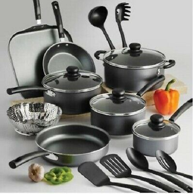 18-PIECE COOKWARE SET Pots And Pans Non Stick Cooking Aluminum Professional - Pots And Pans Sets