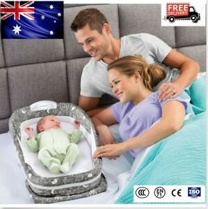 Baby Bed Snuggle Nest Surround XL Infant Sleeper Travel Cot Crib Bed 72*39cm AU