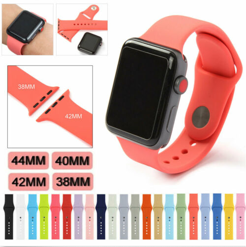 Купить Unbranded For Apple Watch Series 1,2,3,4 - Silicone Band Strap For Apple Watch 1/2/3/4 iWatch Sports Series 38/42/40/44mm