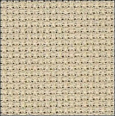 "1yd 14ct BEIGE Charles Craft Aida Cross Stitch Fabric 36x60"" NEW"
