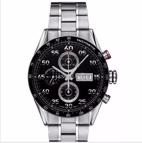 Luxury Automatic Watch Stainless Steel SILVER / BLACK + LOGO