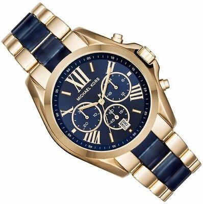 Michael Kors Bradshaw Unisex Watch¦Chronograph Blue Dial¦Dual Tone Strap¦MK6268