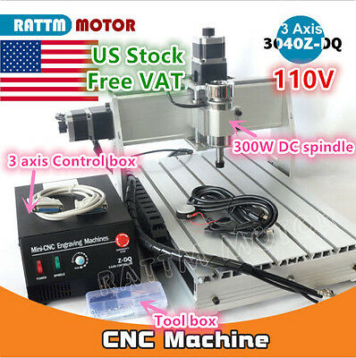 Usa3 Axis 3040 Z-dq Desktop Cnc Router Engraving Milling Machine Kit 110v 300w