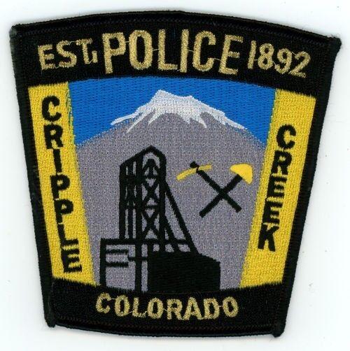 CRIPPLE CREEK COLORADO CO POLICE COLORFUL PATCH SHERIFF