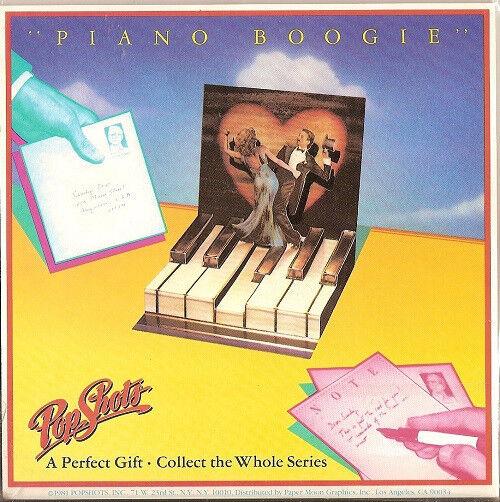 "POP SHOTS 3-D "" PIANO BOOGIE"" GREETING CARD MIP"