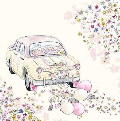 Servietten JUST MARRIED Auto Ambiente | Hochzeit, Wedding (Hochzeit Papier Servietten)