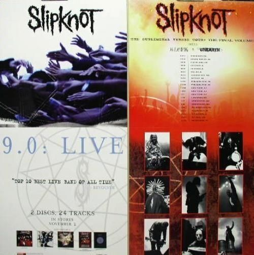 SLIPKNOT 2005 9.0 LIVE double  sided promotional poster Flawless New Old Stock