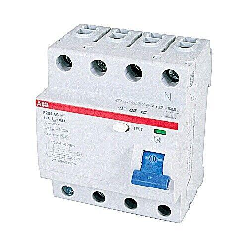 F204AC-40/0.3, ABB, Rcd F200 4P 40A 300Ma Circuit Breaker