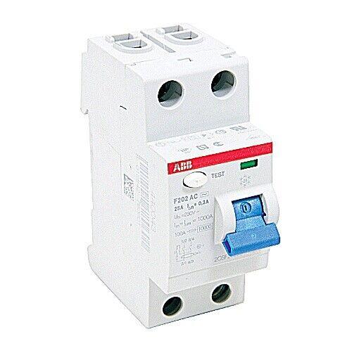 F202AC-25/0.3, ABB, Rcd F200 2P 25A 300Ma 480Y/277 Circuit Breaker