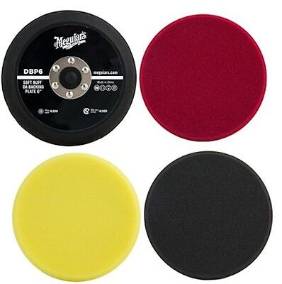 "Meguiar's 6"" DA Polishing Kit: Foam Pads & Backing Plate DBP6, DFC6, DFP6 & DFF6 for sale  Shipping to Canada"