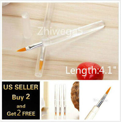 (Clear Portable Smooth Lip Lipstick Gloss Applicator Brush Cosmetic Makeup Tool)
