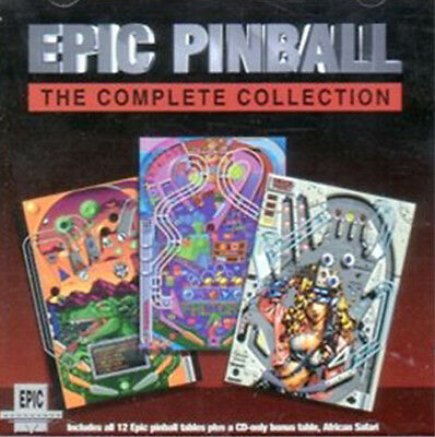 Epic Pinball: Collection Enhanced Edition PC CD 12 Tables plus African Safari African Game Table