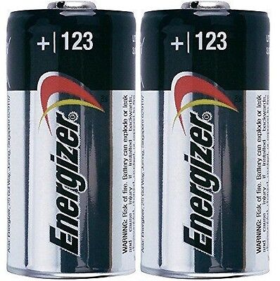 2 Energizer Cr123a Cr123 Cr 123 123A Lithium Battery   Exp 2027