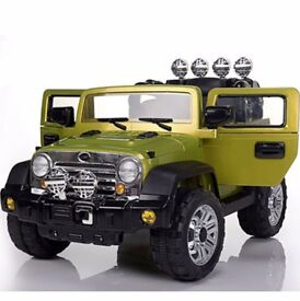 Jeep SUV 12V Twin Motors Kids Ride On Car With Parental Remote Control MP3 Input