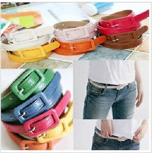 New-Fashion-Candy-Color-Woman-Girl-Sweet-PU-Leather-Thin-Skinny-Belt-Waistband