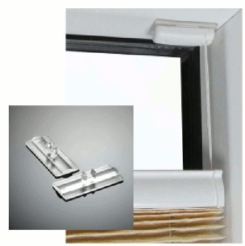 stick & fix Klebeplatten für Cosiflor Plissees, Montage ohne Bohren und Werkzeug