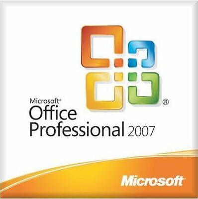 Microsoft Office 2007 Professional CD Full Version Access Excel PowerPoint Word