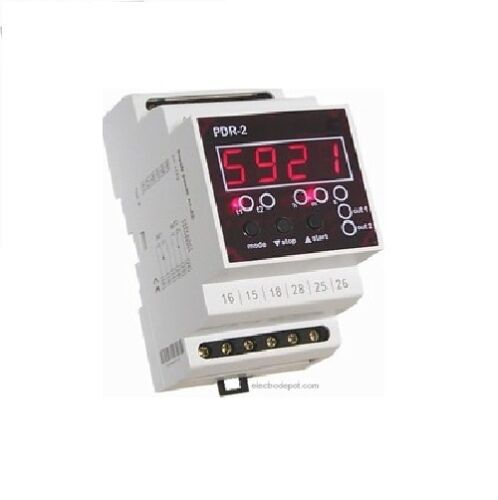 Dual Multifunction Digital Timer Off On Delay Cyclic 12V 120V to 240V 0 to 60h