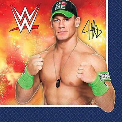 WWE HAPPY BIRTHDAY party supplies beverage PAPER NAPKINS 8pc wrestling Cena + - Wwe Birthday Party Supplies