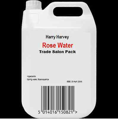 1L Rose Water for Skin Cleansing, Toning, Moisturising 1 Litre Bulk trade Food