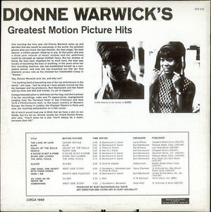 (3) DIONNE WARWICK Vinyl LPs - ALL in EX or Better - 1965 - 1975 Kitchener / Waterloo Kitchener Area image 2