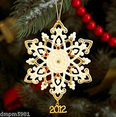 (Lenox 2012 China Snowflake Annual Limited Edition Ornament NEW IN BOX )