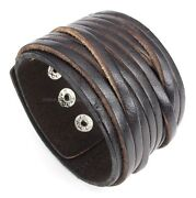 Mens Leather Bracelet Rock