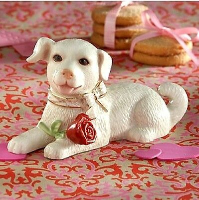 Lenox Valentine Puppy Dog Figurine Sweetheart with Rose NEW IN BOX $55 ()
