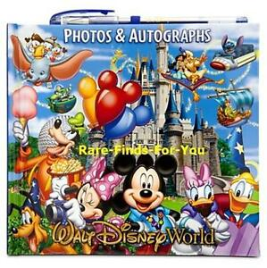 Walt-Disney-World-Park-Storybook-Autograph-Book-Photo-Album-Gel-Pen-NEW-Mickey