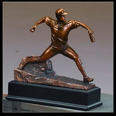 Baseball Pitcher Great Detail Beautiful Bronze Statue / Sculpture Brand New