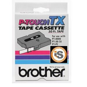 GENUINE Brother TX-3341 P-Touch Tape 1/2' Gold on Black TX3341